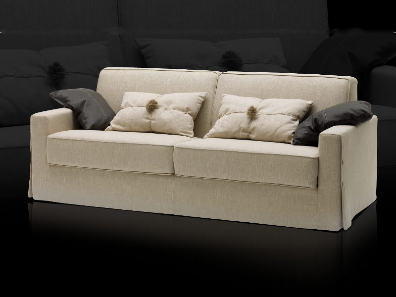 Fabric sofa bed with removable cover TAYLOR - Milano Bedding