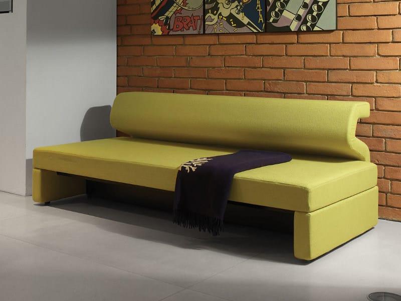 Divano letto reclinabile in tessuto jimi by milano bedding design pietro arosio - Letto singolo divano ...