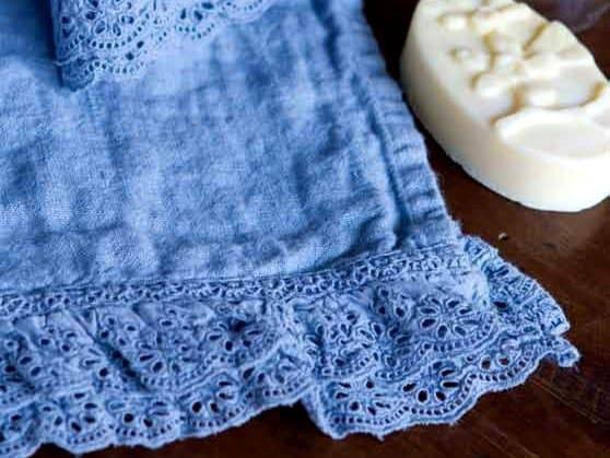 Linen bath Towel GENZIANA | Bath Towel - LA FABBRICA DEL LINO by Bergianti & Pagliani