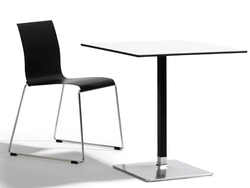 Square aluminium table LEVEL | Square table - Blå Station