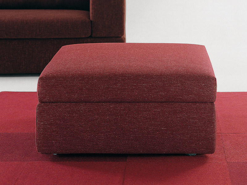 Storage upholstered pouf PAT | Pouf - Milano Bedding
