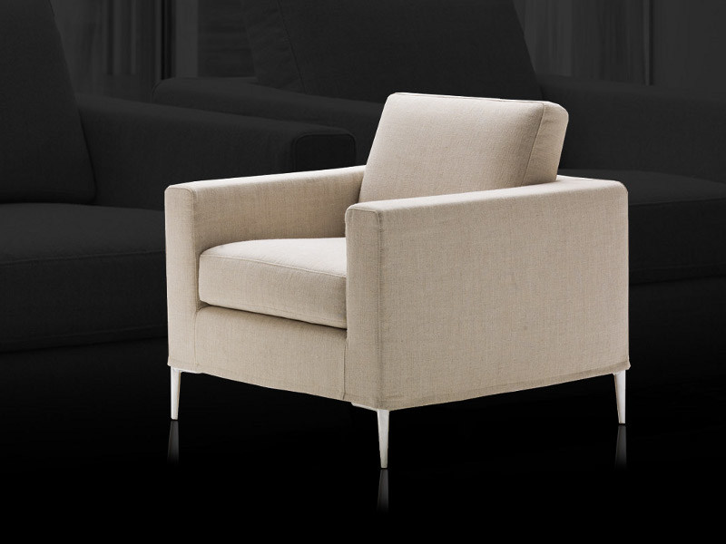 Upholstered fabric armchair GRACE - Milano Bedding