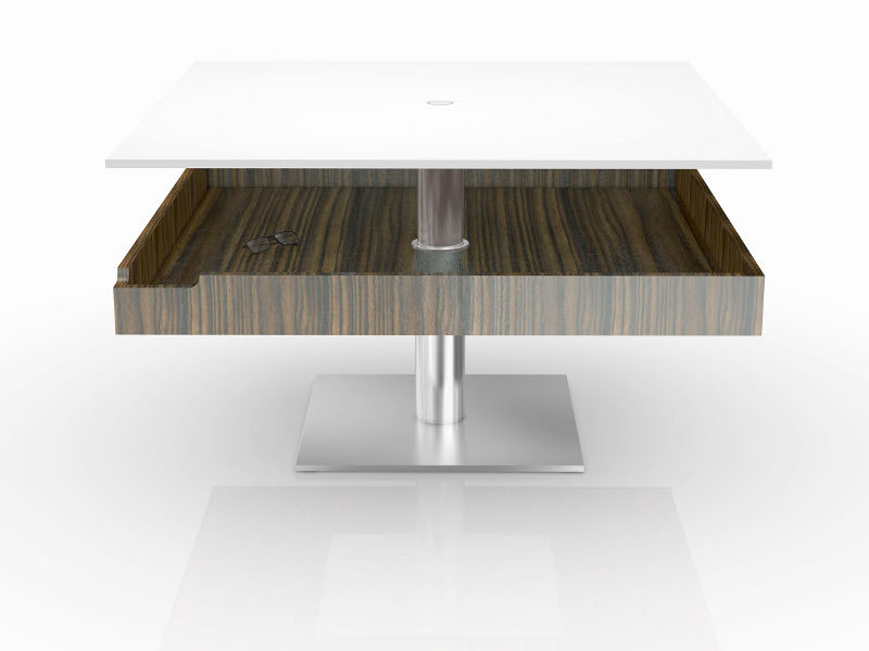 Square coffee table PHAETON by Ronald Schmitt