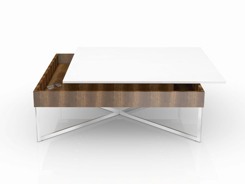Square coffee table TAURUS by Ronald Schmitt