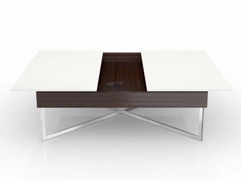 Lacquered square coffee table SIRIUS by Ronald Schmitt