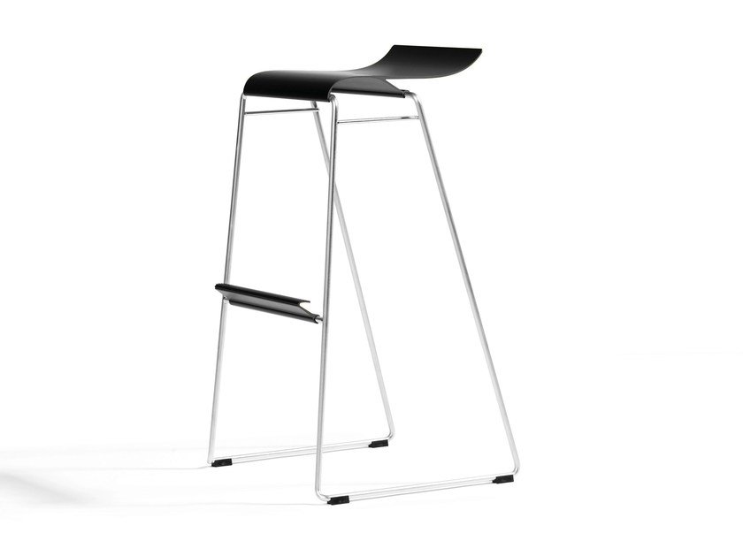 High stackable stool GECCO O33-82 - Blå Station