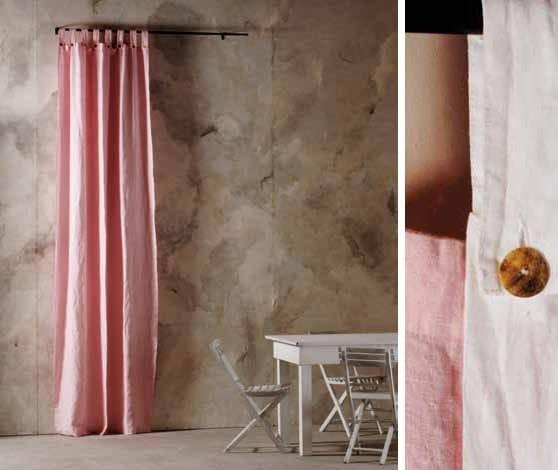 Linen curtain BOTTONI&ASOLE | Curtain - LA FABBRICA DEL LINO by Bergianti & Pagliani