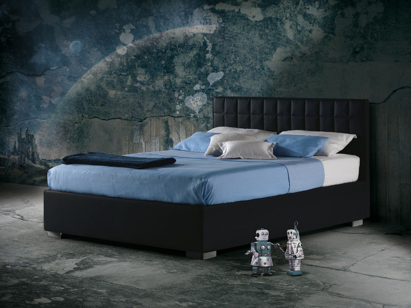 Fabric bed with upholstered headboard BARTH - Milano Bedding