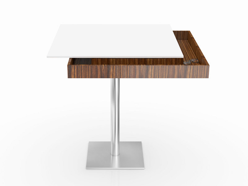 Square steel dining table APOLLO | Table - Ronald Schmitt