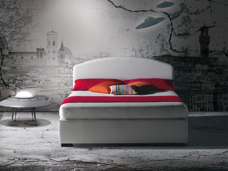 Fabric bed with removable cover DOMINGO by Milano Bedding