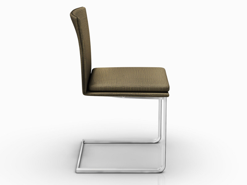 cantilever upholstered chair nomi ronald schmitt. Black Bedroom Furniture Sets. Home Design Ideas