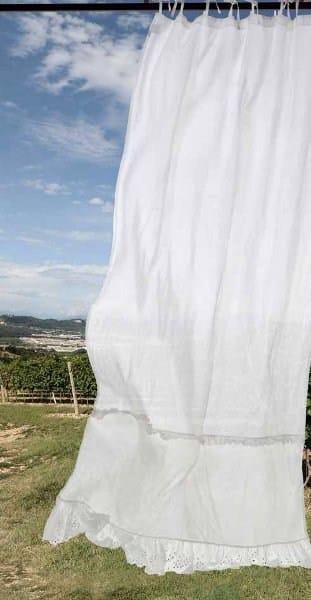 Tenda a bastone in lino genziana tenda a bastone la fabbrica del lino - La fabbrica del lino letto ...