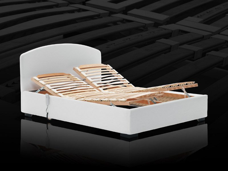 Slatted electric adjustable bed base Electric bed base by Milano Bedding