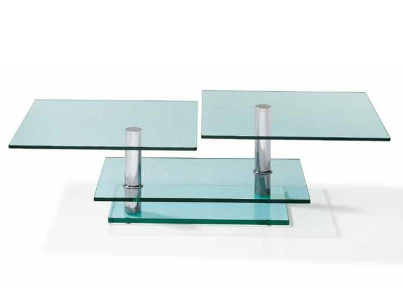Swivel rectangular coffee table K 500 | Coffee table by Ronald Schmitt