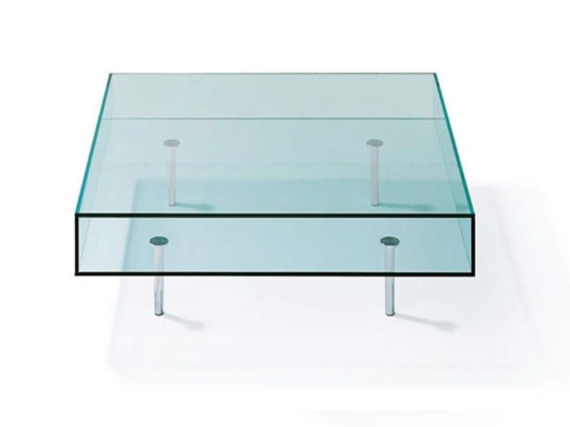 Low glass coffee table K 126 | Coffee table - Ronald Schmitt