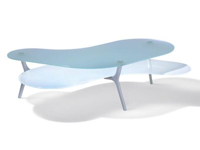 tavolino basso da caff in vetro layers by ronald schmitt design klaus nolting. Black Bedroom Furniture Sets. Home Design Ideas