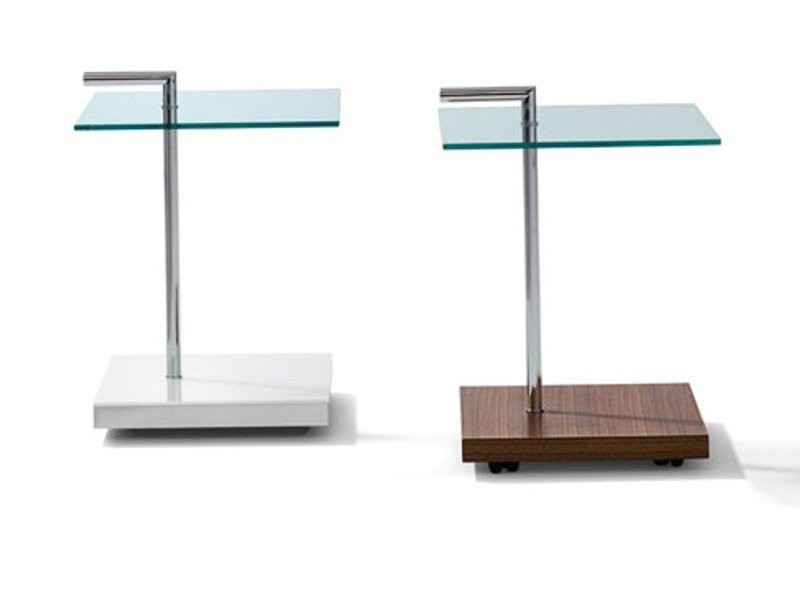 Square glass coffee table K 838 | Coffee table by Ronald Schmitt