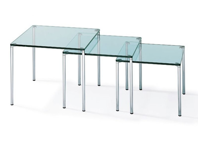 Stackable Rectangular Glass Coffee Table K 351 By Ronald Schmitt Design Klaus Bergen