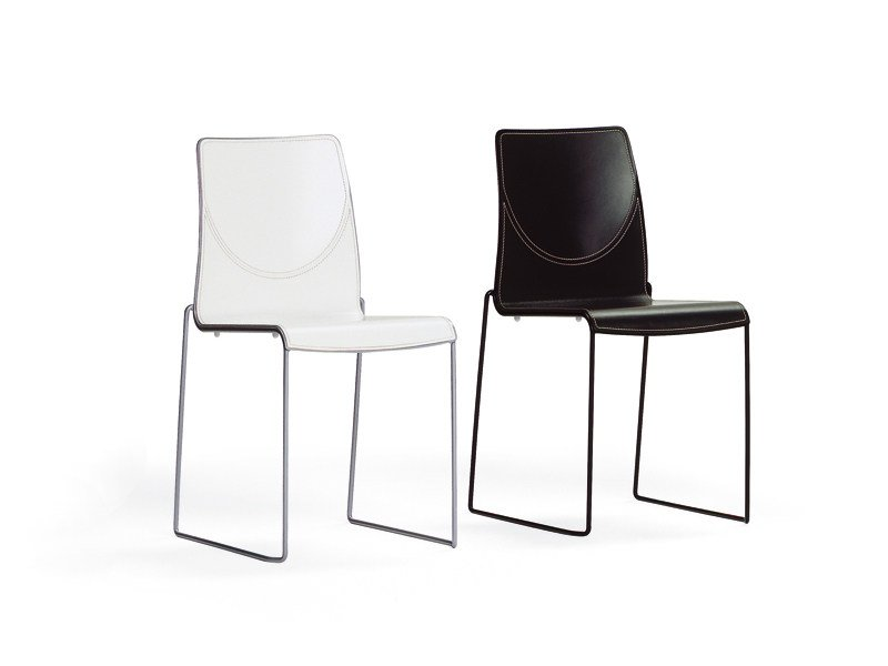 Sled base ergonomic chair CAMILLA CLUB by YDF