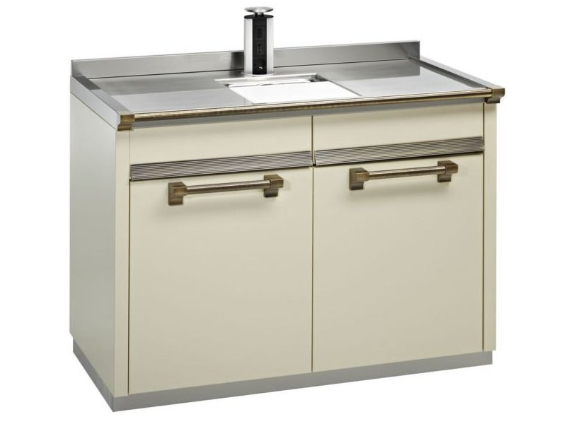 Kitchen unit ASCOT | Kitchen unit with single sink - Steel
