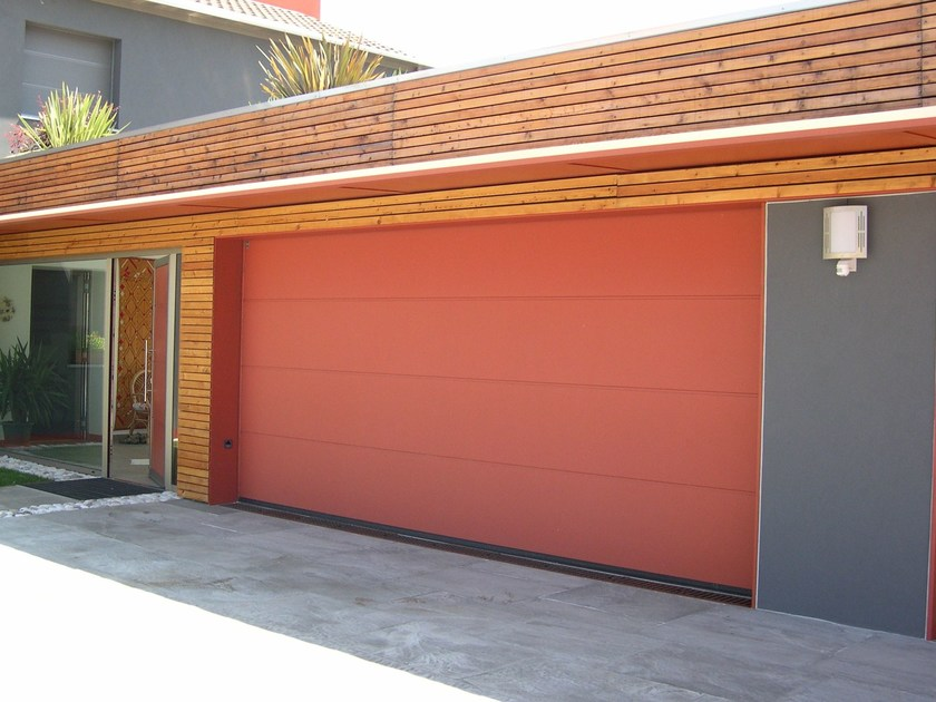 Portone da garage sezionale in acciaio lpu 40 grecatura - Altezza parapetti finestre normativa ...