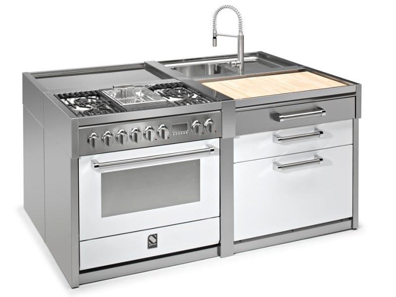 Cucina lavello in acciaio inox genesi lavello steel - Lavello cucina professionale ...