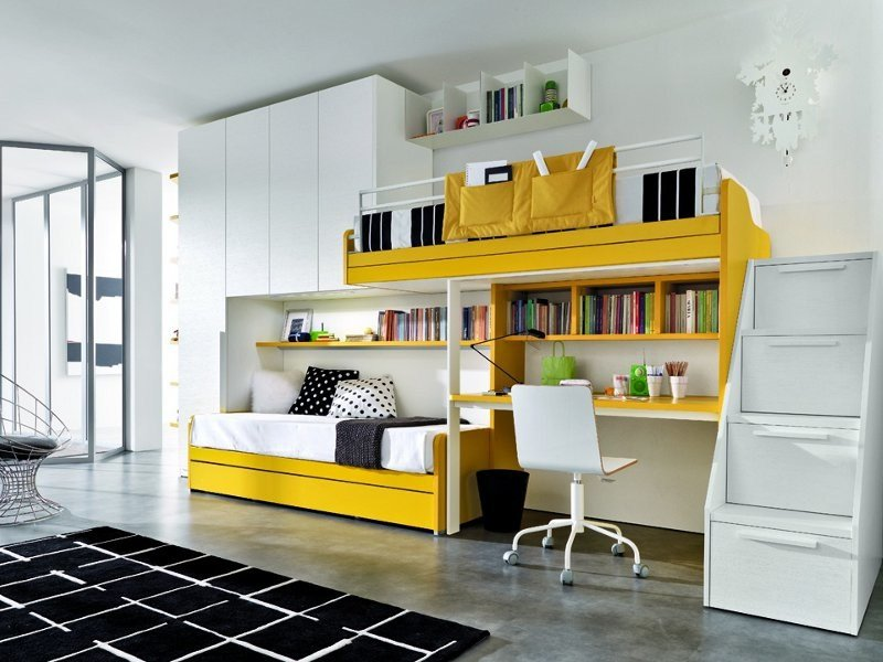 Fitted bedroom set for boys Z017 | Bedroom set by Zalf