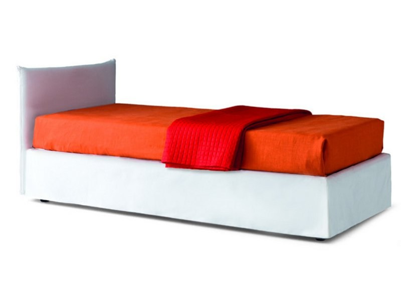 Upholstered storage bed FLEXY BOX by Zalf