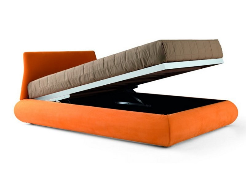 letto contenitore sfoderabile bull zalf. Black Bedroom Furniture Sets. Home Design Ideas