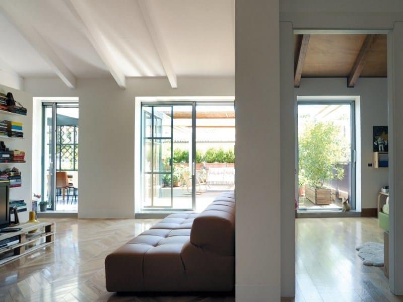 Porta finestra a taglio termico alzante scorrevole con - Porta finestra doppio vetro ...