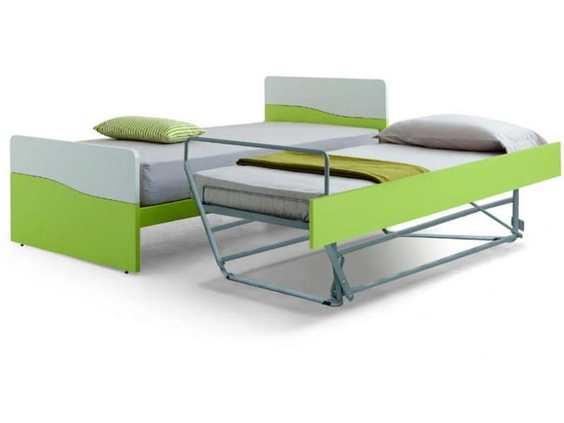 Letto singolo bicolor letto estraibile zalf for Ikea letti singoli con secondo letto