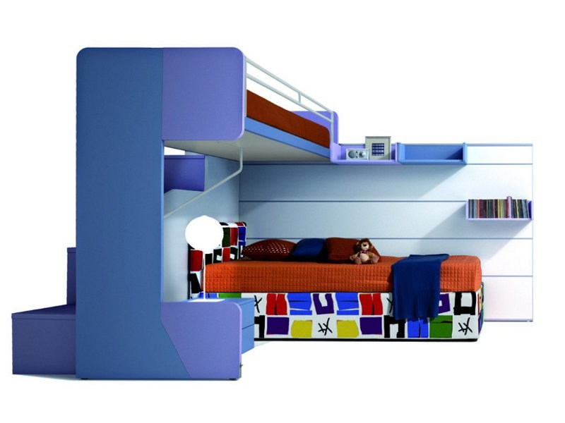 Convertible bunk bed CASTELLO VIRGOLA by Zalf