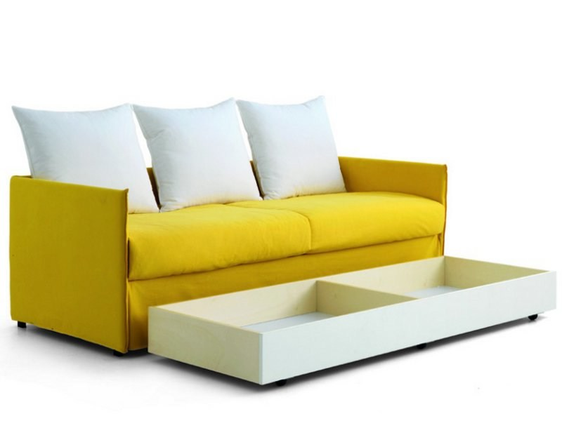 Fabric sofa bed with removable cover BINO - Zalf