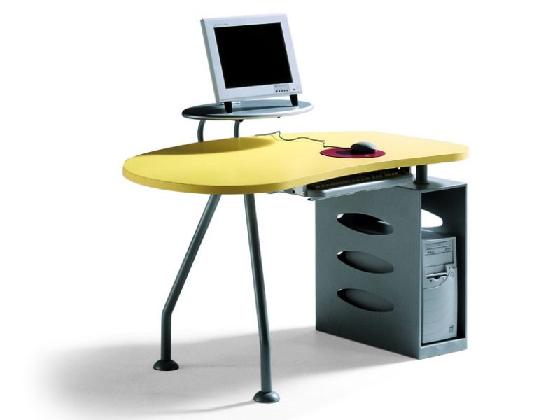 PC metal writing desk GALAXY - Zalf