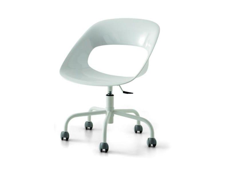 Technopolymer chair with casters PLATÓ - Zalf
