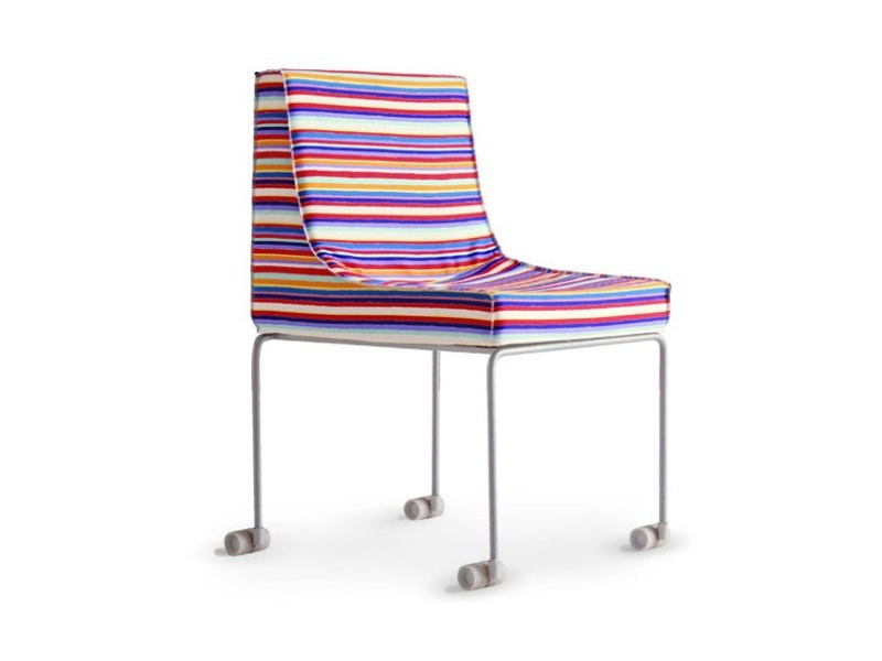 Chair with removable cover with casters SKYLAB | Chair - Zalf