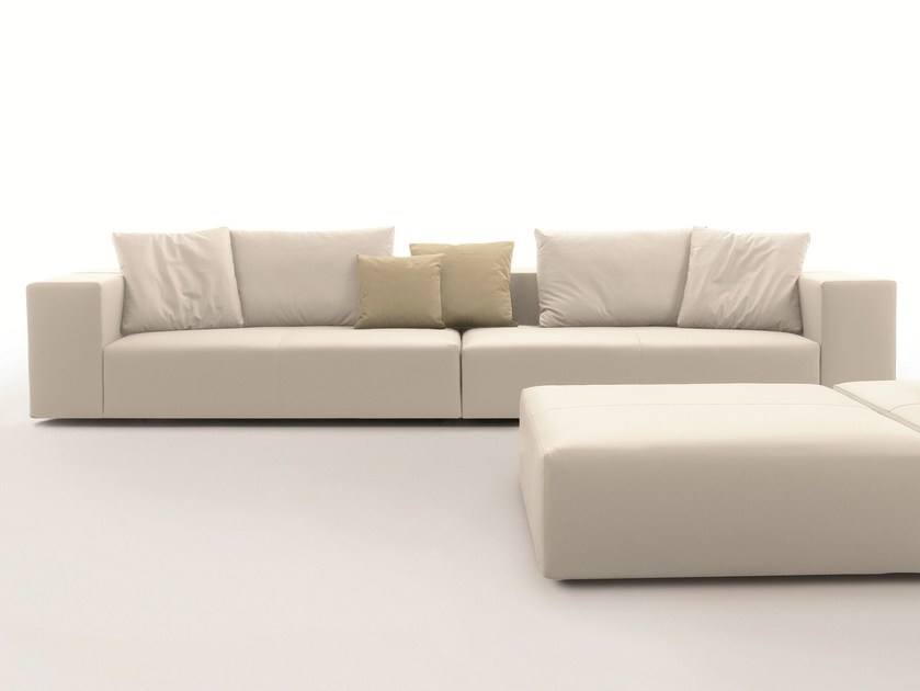 Corner sofa with removable cover BLOCKONE by Désirée divani