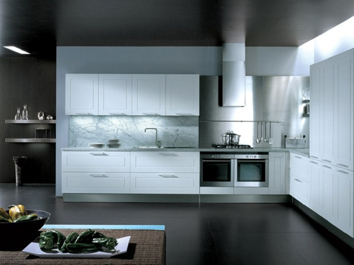 Fitted kitchen with handles QUADRICA - Euromobil