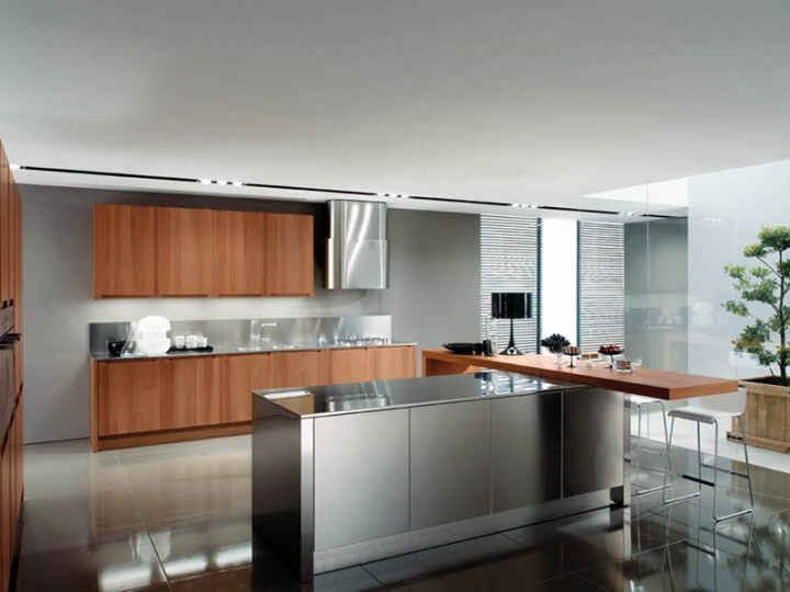 Modular kitchen with integrated handles FILANTA - Euromobil