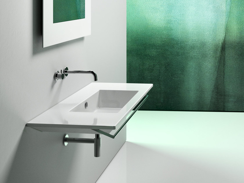 Rectangular wall-mounted ceramic washbasin STAR 105 | Wall-mounted washbasin - CERAMICA CATALANO