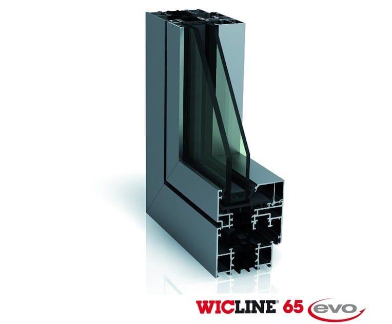 Ventana de aluminio WICLINE 65 EVO - WICONA
