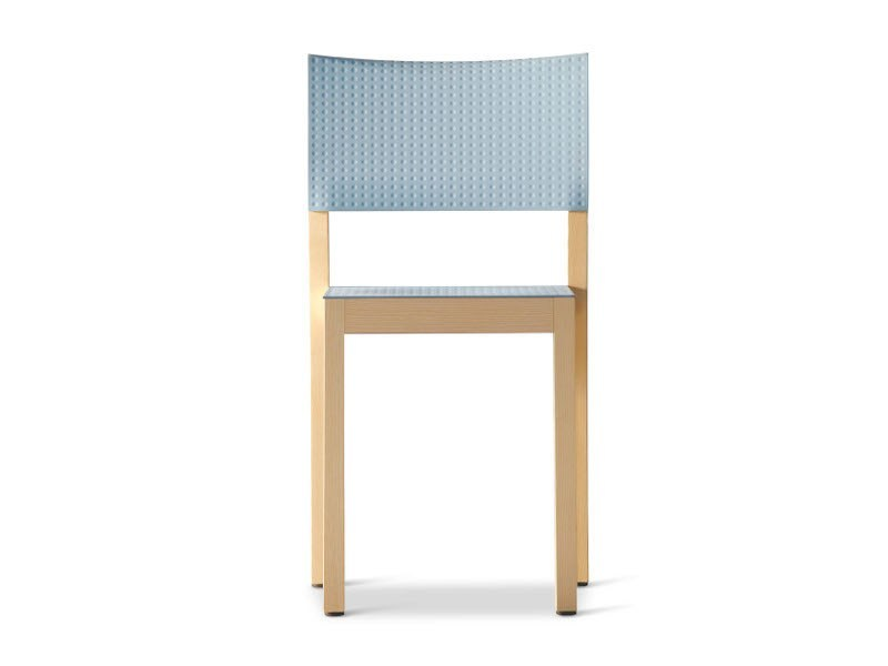 Stackable ash chair DOTY - Plank