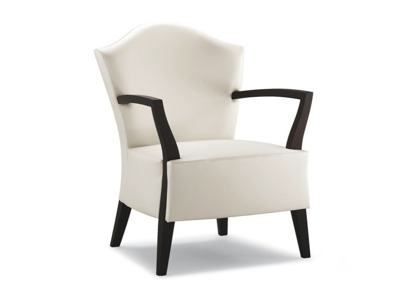 Fabric armchair with armrests KING - CIZETA