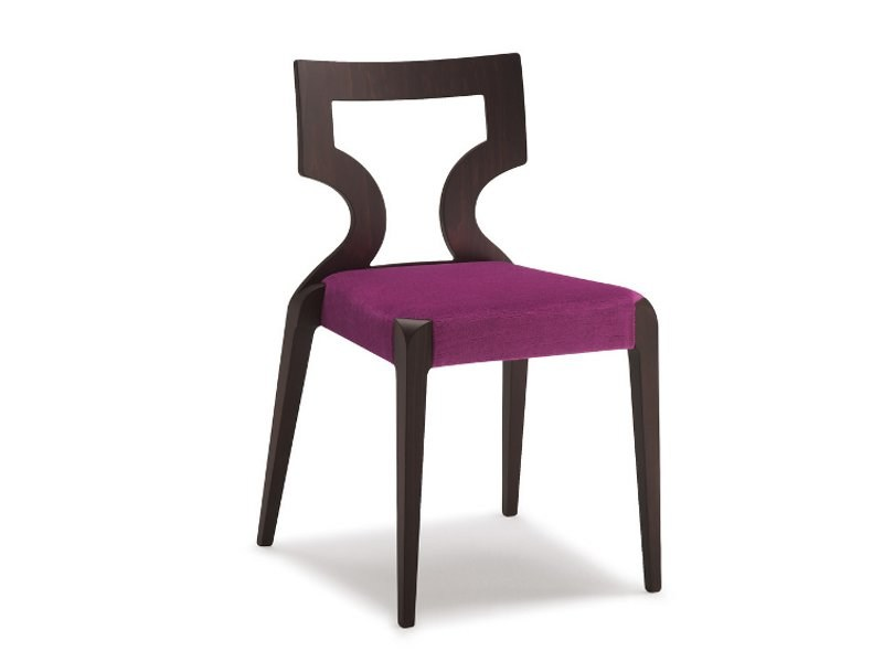 Stackable open back fabric chair SENDY | Chair - CIZETA