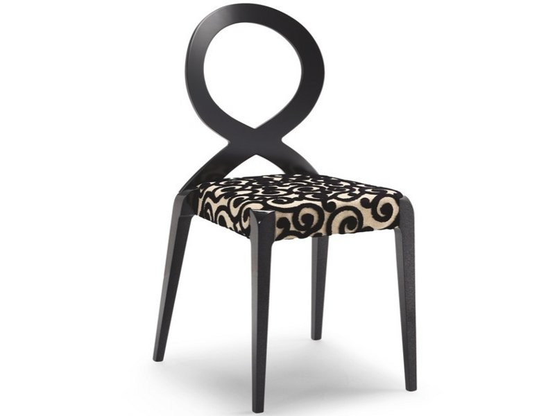 Stackable open back fabric chair SENDY | Open back chair - CIZETA