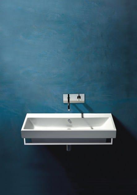 Wall-mounted ceramic washbasin ZERO 100 | Rectangular washbasin - CERAMICA CATALANO