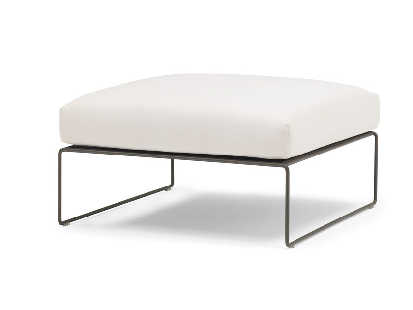 Sled base leather footstool SIESTA | Footstool by Andreu World