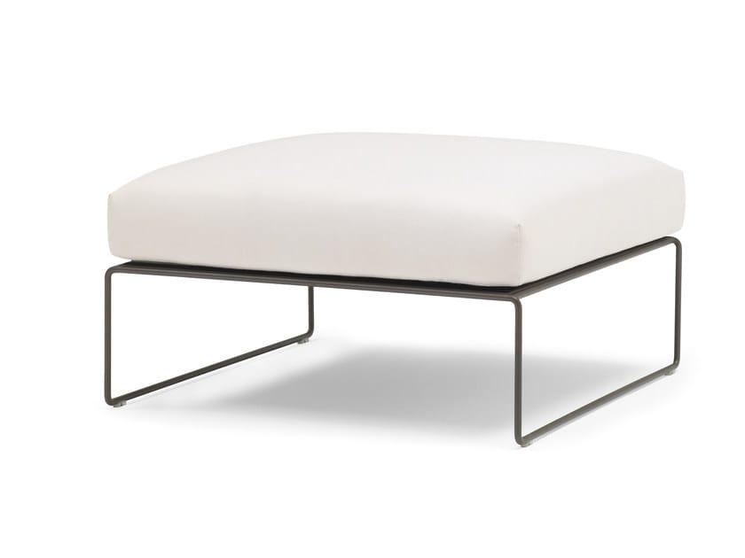 Sled base leather footstool SIESTA | Footstool - Andreu World