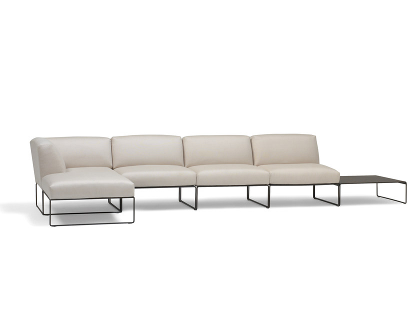 Sectional leather sofa SIESTA | Sectional sofa - Andreu World