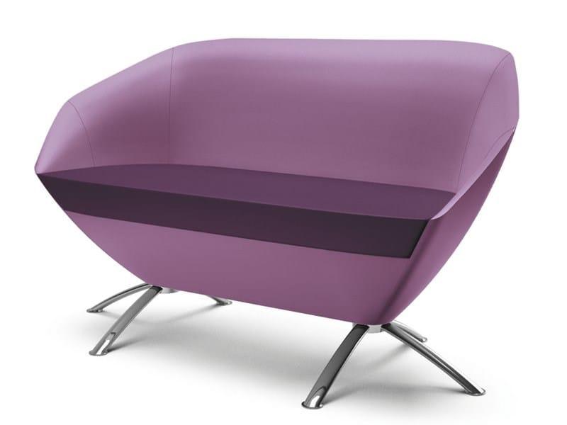 2 seater fabric sofa FLEUR | Sofa - CIZETA
